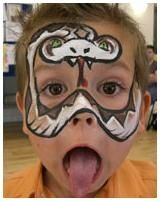 snake Face Paint   Rattle Snake Face Painting   face and body painting   Pinterest