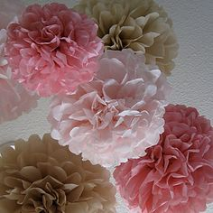 14 inch papieren bloem bruiloft Decorations - Set van 4 (meer kleuren) – EUR € 5.77