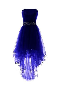 YiYaDawn Women's High-low Homecoming Dress Short Evening Gown Size 14 US Royal Blue