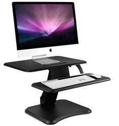 Mount-It! Height Adjustable Standing Desk Converter, Wide Desktop - Sit-Stand Converting Desks with Gas Spring for Home, Office - Stand-Up Computer Workstation Desktops by Mount-It! Adjustable Standing Desk Converter, Adjustable Height Desk, Sit Stand Desk, Sit To Stand, Desk With Keyboard Tray, Desktop, Computer Workstation, The Ordinary, Tabletop