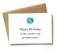 Funny Birthday Card For Sister Worlds By SpellingBeeCards Gifts Presents