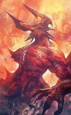 Demon – fantasy/horror concept by Lastart Ep Monster Concept Art, Fantasy Monster, Monster Art, Monster High, Foto Fantasy, Dark Fantasy Art, Fantasy Artwork, Demon Artwork, Fantasy Character Design