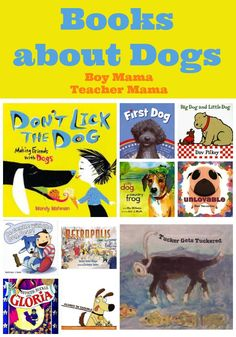 Little kids are often afraid of dogs. Books to help kids become familiar with (and more comfortable around) dogs.
