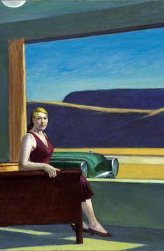 """Detail from Edward Hopper's """"Western Motel"""", 1957."""