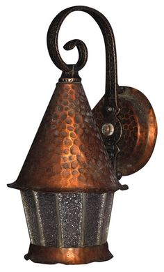holy cow imagine this with colored glass vintage porch light fixture