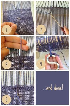 So frustrating to have a warp thread break on rigid-heddle, but it happens to the best of us! Here's how to easily fix it with a T-pin. #weaving #rigidheddle