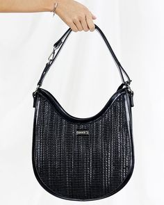 Handbag in black with distinctive texture Brown Backpacks, Blue Handbags, Khaki Dress, White Handbag, Pu Leather, Dust Bag, Studs, Light Blue, Spring Summer