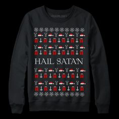 hail satan satanic christmas sweater creature craft co - Metal Christmas Sweater