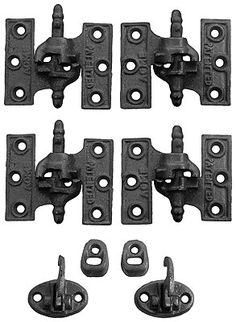 """Acme"" Cast Iron Mortise Shutter Hinges - 3 1/8"" x 2 7/16"""