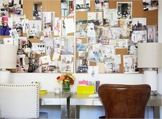 I definitely plan to do this cork board wall once I redo my home office.
