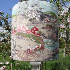 Blossom Scenic Barkcloth Lampshade £38