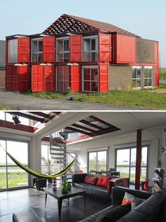 Amazing Container Residences , A delivery container is similar to a blank canvas, allowing you to unleash your creative side. Before you acquire a delivery container for your new ho. Container Home Designs, Storage Container Homes, Cargo Container, Container Houses, Shipping Container Buildings, Shipping Container Homes, Shipping Containers, Container Architecture, Affordable Prefab Homes