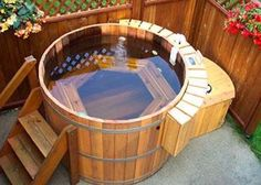 Japanese Natural Cedar Hot Tubs Designs: Traditional Wooden Japanese Tubs