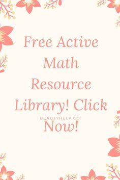 Free Active Math Resource Library - Videos/Step by Step instructions | Math Activity | Math Activities | Algebra | Maths | Math Games | Math Teaching Ideas | Hands-on Activities | Secondary Math | Elementary Math