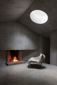 Refugi Lieptgas, Flims, 2014 - Georg Nickisch and Selina Walder #fireplaces
