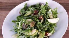 Arugula Salad with Apples and Grapes goes with the mushrooms with polenta