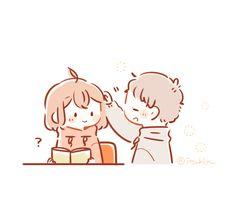 いつきゆう (@itsukiyu) / Twitter Hipster Drawings, Cute Easy Drawings, Anime Couples Drawings, Kawaii Drawings, Cute Anime Couples, Pencil Drawings, Cute Couple Sketches, Cute Chibi Couple, Cute Couple Cartoon