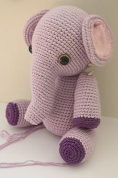 crochet animal patterns | Amigurumi creations by Laura: Amigurumi Elephant Pattern in Process