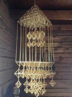 Soisalo-opiston käsityöblogi: kesäkuu 2014 Mobile Sculpture, Handmade Ornaments, Design Crafts, Pattern, Lithuania, Mobiles, Finland, Home Decor, Vintage