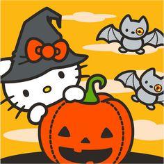 Hello Kitty Pumpkin, Hello Kitty Art, Hello Kitty Coloring, Hello Kitty My Melody, Mickey Mouse Wallpaper Iphone, Sanrio Wallpaper, Halloween Wallpaper Iphone, Hello Kitty Wallpaper, Hello Kitty Halloween