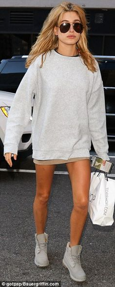 Low-key: The model, who has been romantically linked to Justin Bieber, appeared to be in r...