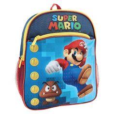 Disney Mario Kart Boys' 10 inch Backpack Blue : Target