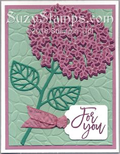 Stampin' Up! Cards - 2016-08 Class - Thoughtful Branches stamp set, Beautiful Branches Thinlits Dies, Tags & Labels Framelits Dies and Petal Burst Embossing Folder