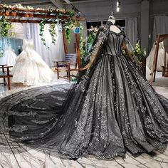 Ball Dresses, Bridal Dresses, Ball Gowns, Evening Dresses, Formal Dresses, Dresses With Capes, Black Wedding Gowns, Wedding Dress With Veil, Pretty Quinceanera Dresses