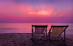 Nothing like the perfect sunset in your favorite beach chair!