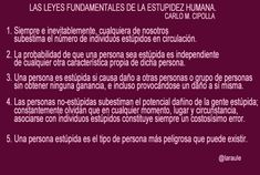 Leyes Fundamentales de la estupidez humana. Carlo M. Cipolla