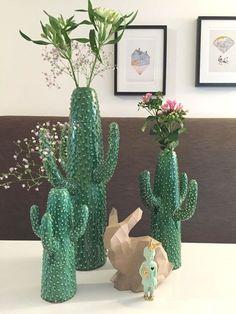 Cactus vase X-Large Cactus Decor, Cactus Art, Cactus Painting, Cacti And Succulents, Cactus Plants, Indoor Cactus, Hanging Wall Vase, Cactus Ceramic, Southwest Decor