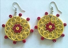Quilled Paper Earring Patterns and Designs - Life Chilli