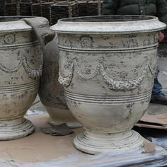 French Anduze Pot in Ivory Online Garden Store