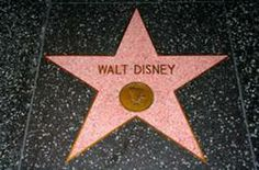 Walt Disney's star on the Hollywood Walk of Fame