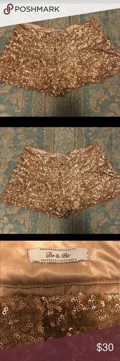 Gold Sequin Shorts Gold Sequin Shorts Shorts