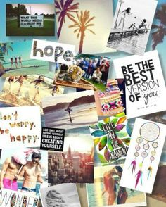 Have fun cutting and sticking a Vision board for daily inspiration - think…