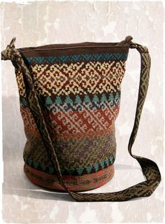 Talara Pima Cotton Bag - this is not knitted but it could be - inspiration!