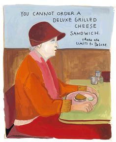 Limits. Maira Kalman, Gouache on paper. Published in the New York Times blog, 04/03/2007.