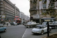 Marble Arch looking down Oxford Street, London 1964 London Now, Old London, West London, Oxford Street London, London History, Tudor History, British History, London Clubs, Old Street