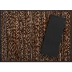 Sumatra Placemat and Cotton Black Napkin in Placemats | Crate and Barrel