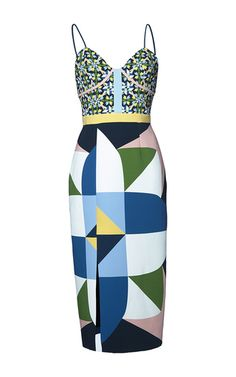 Caleb Printed Slip Dress by Pardens