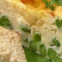 Омлет с мятой и зеленым горошком