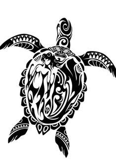 Honu (tribal sea turtle) by Takihisa on DeviantArt Tattoo Tribal, Tribal Turtle Tattoos, Turtle Tattoo Designs, Maori Tattoo Designs, Henna Tattoos, Hawaiianisches Tattoo, Thigh Tattoos, Rune Tattoo, Bicep Tattoo