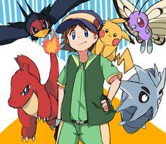 Pokemon Human Characters, Pokemon Tv, Pokemon Comics, Cute Pokemon, Fictional Characters, English Slogans, Pokemon Adventures Manga, Satoshi Tajiri, Pokemon Universe