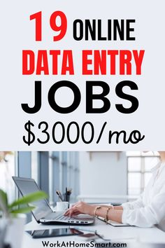 Check out this collection of 19 legit companies with data entry jobs from home to earn money. Typing Jobs From Home, Online Typing Jobs, Online Data Entry Jobs, Best Online Jobs, Online Job Opportunities, Companies Hiring, Work From Home Companies, Making Extra Cash, Earn Money