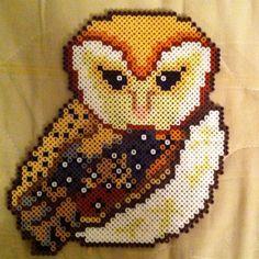 Owl hama perler beads by baka654