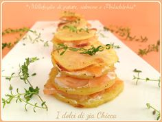 Millefoglie di patate, salmone e Philadelphia