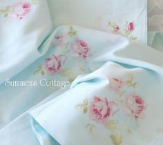 summers cottage bedding | Lovely for Beach Cottage Romantic Homes - these sheets would be ...