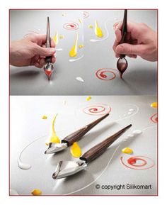 Silikomart Spoon Decor - This is a really clever spoon. It could save me from using a lot of little decorating bags for small decorations. From www.silikomart.net ACC099
