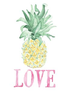 """Tropical watercolor Valentine's Day cards. Perfect for the pine-apple of your eye! Blank on the inside. - Folded cards are 4-1/4"""" x 5-1/2""""with a Peony A2 Envelope - Digitally printed on acid-free and archival 80lb text paper - Each card comes protected in a plastic sleeve and tied with twine - Shipped in a stay-flat mailer This item ships within 1-3 business days. All of our cards are illustrated with care and a sense of humor."""